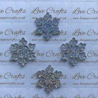 AB Glitter Snowflake Resin - 26mm