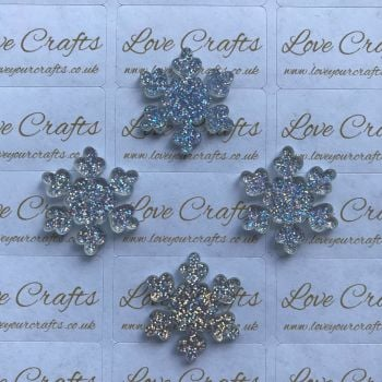AB Glitter Snowflake Resin - 26mm