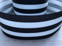 Black & White Stripe Grosgrain Ribbon