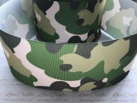 NEW Camouflage Grosgrain Ribbon