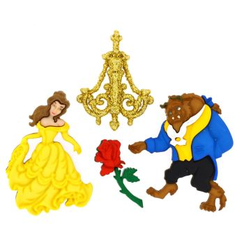 Dress It Up Buttons: Beauty & The Beast