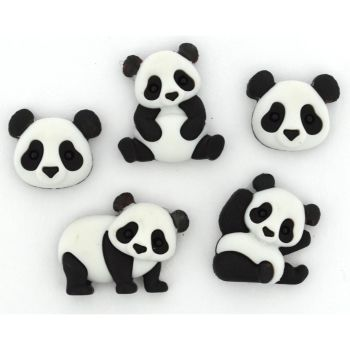Dress It Up Buttons: Panda Pile