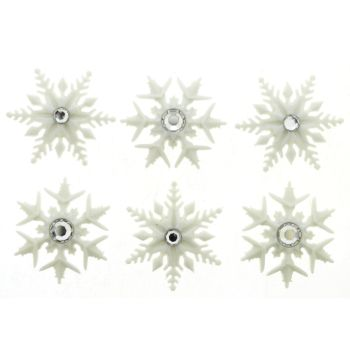 Dress It Up Buttons: Fancy Snowflakes