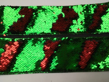"3"" Red to Green Sequin Change Ribbon"
