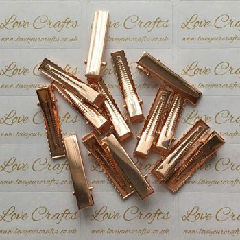 10 - 32mm Rose Gold Alligator Hair Clips