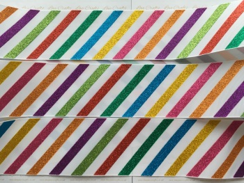 "3"" Multi Coloured Glitter Grosgrain Ribbon"