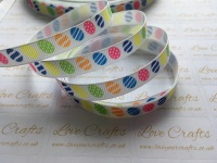 "3/8"" Easter Eggs Grosgrain Ribbon"