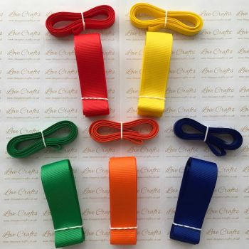 "3/8"" & 1"" Rainbow Grosgrain Ribbon Bundle"
