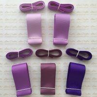 "3/8"" & 1.5"" Perfect Purples Grosgrain Ribbon Bundle"