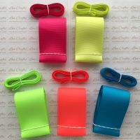 "3/8"" & 2"" Neon Grosgrain Ribbon Bundle"