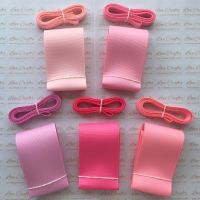 "3/8"" & 2"" Pretty Pinks Grosgrain Ribbon Bundle"