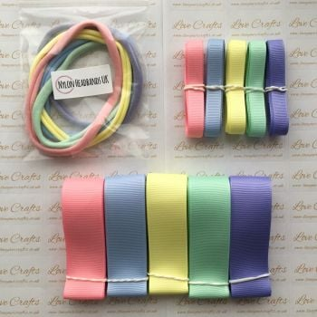 "3/8"" & 1"" Grosgrain Ribbon & Dainties Bundle 1"