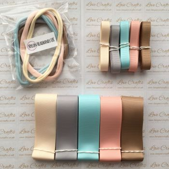 "3/8"" & 1"" Grosgrain Ribbon & Dainties Bundle 2"