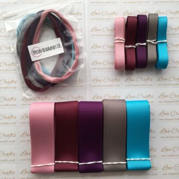"3/8"" & 1"" Grosgrain Ribbon & Dainties Bundle 4"