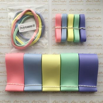 "3/8"" & 1.5"" Grosgrain Ribbon & Dainties Bundle 1"