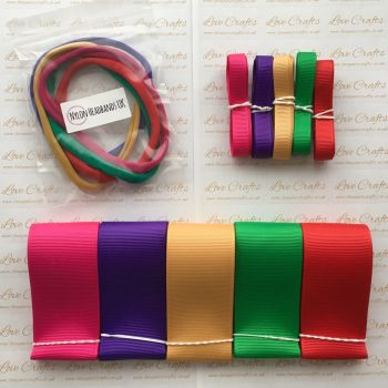"3/8"" & 1.5"" Grosgrain Ribbon & Dainties Bundle 3"