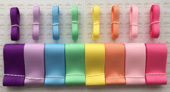 "3/8"" & 1.5"" New Rainbow 2 Grosgrain Ribbon Bundle"