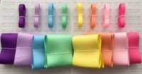 "3/8"" & 3"" New Rainbow 2 Grosgrain Ribbon Bundle"