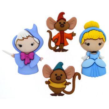 Dress It Up Buttons: Cinderella