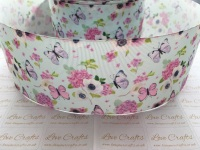 Butterfly Floral Grosgrain Ribbon