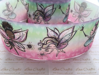 Ombre Fairies Grosgrain Ribbon