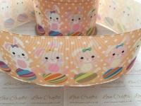 Spotty Easter Bunnies Grosgrain Ribbon