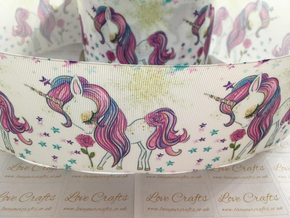 Unicorn Beauty Grosgrain Ribbon