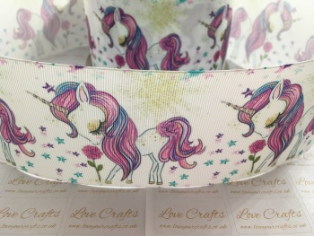Unicorn Beauty Grosgrain Ribbon