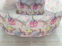 Unicorn Cupcakes Grosgrain Ribbon