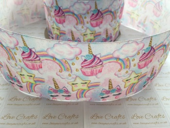 Unicorn Cupcakes Grosgrain Ribbon