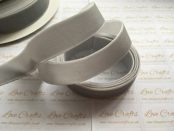22mm Velvet Ribbon - #012 Silver