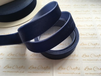 22mm Velvet Ribbon - #370 Navy