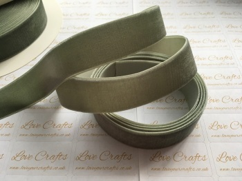 22mm Velvet Ribbon - #569 Deep Sage