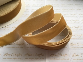 22mm Velvet Ribbon - #693 Pale Gold
