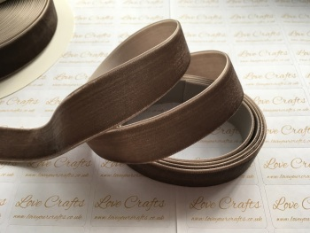 22mm Velvet Ribbon - #839 Chocolate Chip