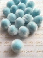 25mm Baby Blue Pom Pom