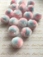 25mm Pastel Mix Pom Pom