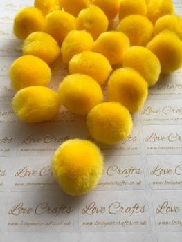 25mm Yellow Pom Pom