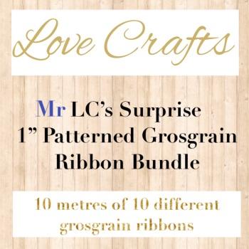 """Mr LC's Surprise 1"""" Patterned Grosgrain Ribbon Bundle"""