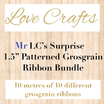 "Mr LC's Surprise 1.5"" Patterned Grosgrain Ribbon Bundle"