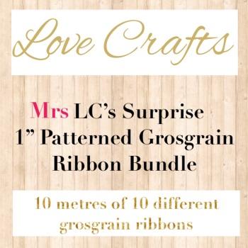 """Mrs LC's Surprise 1"""" Patterned Grosgrain Ribbon Bundle"""