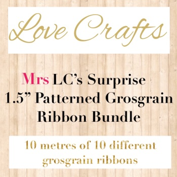 "Mrs LC's Surprise 1.5"" Patterned Grosgrain Ribbon Bundle"