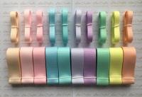 "3/8"" & 1"" New Rainbow 3 Grosgrain Ribbon Bundle"
