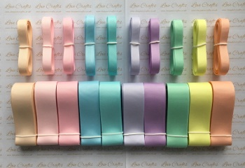 "3/8"" & 1"" New Rainbow 3 Grosgrain Ribbon Bundle"