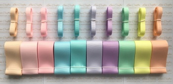 "3/8"" & 1.5"" New Rainbow 3 Grosgrain Ribbon Bundle"