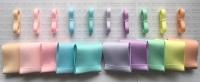 "3/8"" & 3"" New Rainbow 3 Grosgrain Ribbon Bundle"