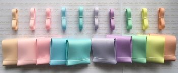 "3/8"" & 3"" New Rainbow 3 Grosgrain Ribbon Bundle"