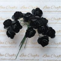 20mm Paper Flowers - Black