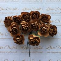 20mm Paper Flowers - Brown