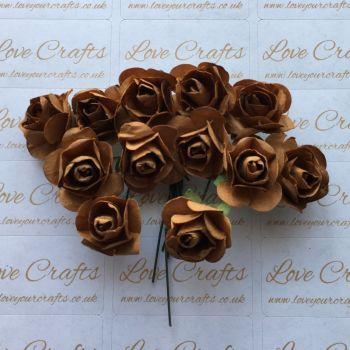 20mm Paper Flowers - Brown